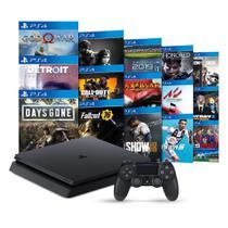 Console PlayStation 4 Slim 1TB + 15 Jogos - Sony -