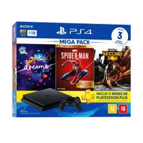 Console PlayStation 4 Slim 1TB + 3 Jogos + 3 Meses Playstation Plus (Bundle Hits 17) - Sony