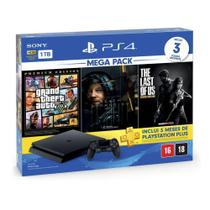 Console PlayStation 4 Slim 1TB + 3 Jogos + 3 Meses Playstation Plus (Bundle Hits 9) - Sony -