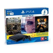Console PlayStation 4 Slim 1TB + 3 Jogos + 3 Meses Playstation Plus - Sony -