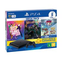 Console PlayStation 4 Slim 1TB + 5 Jogos + 3 Meses Playstation Plus (Bundle Hits 11) - Sony -