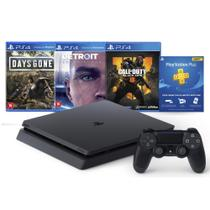 Console Playstation 4 Slim 1TB Bundle Hits Days Gone, Detroit,  Call of Duty Black Ops 4 - Sony Brasil