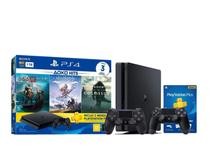 Console Playstation 4 Slim 1TB Hits Bundle 4 Com 3 Jogos + 2 Controles Dualshock 4 Preto - Sony