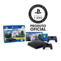 Console Playstation 4 Slim 1TB Hits Bundle c/ 3 jogos + controle wireless PS4 Azul - Sony