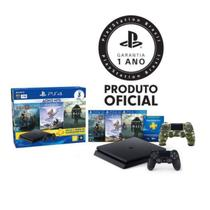 Console Playstation 4 Slim 1TB Hits Bundle c/ 3 jogos + controle wireless PS4 Camuflado - Sony