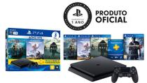 Console Playstation 4 Slim 1TB Hits Bundle c/ 3 jogos + Uncharted 4 - Sony
