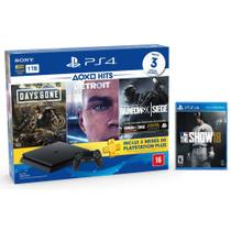 Console Playstation 4 Slim 1TB Hits Bundle v5 + MLB The Show 18 - PS4 - Sony