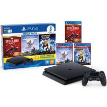 Console Playstation 4 Slim CUH-2241B 1TB Com 3 Jogos 3 Meses da PS Plus Preto - Sony