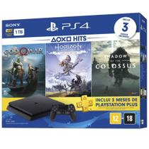 Console Playstation 4 Slim Sony 1 Tera + 3 Jogos God of War Horizon Zero Dawn Shadow Lançamento