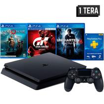 console ps4 1TB hits bundle + 3 jogos + controle wireless dualshock 4 - sony