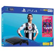 Console PS4 Slim 500GB Bundle Fifa 19 PSN Plus - Sony
