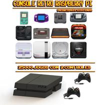 Console Retrô Mini PS4 RetroPie 25.000 Jogos + 2 Controles - Bd net imports
