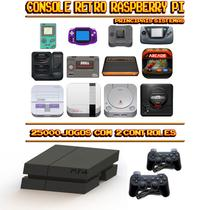 Console Retrô Mini PS4 RetroPie 25.000 Jogos + 2 Controles PS3 - Bd net imports