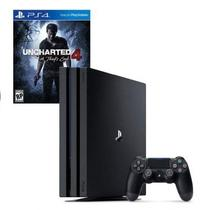 Console / Sony / Playstation 4 PRO / 1TB  / 1 Controle - Preto + Jogo Uncharted 4 -