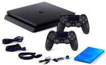 Console / Sony / Playstation 4 Slim / 1TB / 2 Controles - Preto