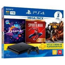 Console Sony PlayStation 4 Slim 1TB + 3 Jogos + 3 Meses Playstation Plus (Bundle Hits 17) -