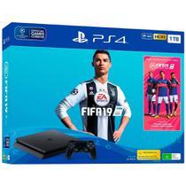 Console Sony Playstation 4 Slim 1TB com Fifa 19 - Preto -