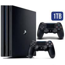 Console video game playstation 4 Ps4 Play 4 Pro 1TB 4k + 2 Controles - Sony