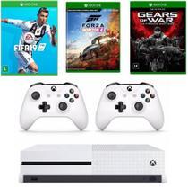 Console Xbox One 1Tb 4k Branco Hdmi Bivolt c/3 Jogos + 2 Controles - Promoção