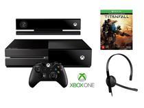Console Xbox One 500GB Controle Wireless e Blu-ray - Novo Kinect Microsoft com Card Titanfall
