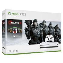 Console xbox one s 1tb c/ contr. s/fio c/jogo gears v  microsoft -