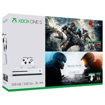 Console Xbox One s 500GB Bundle Gears Of War e Halo 5 - Microsoft
