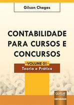Contabilidade para Cursos e Concursos - Volume 01 - Teoria e Prática - Juruá Editora -
