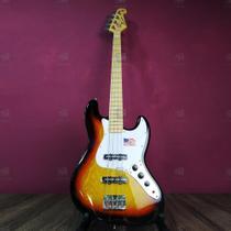 Contra Baixo 4 Cordas Jazz Bass SX SJB75 Sunburst com Escudo Branco - SX -