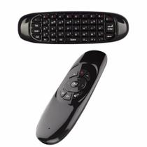 Controle Air Mouse Teclado Wireless C120 Pc Smart T7 -