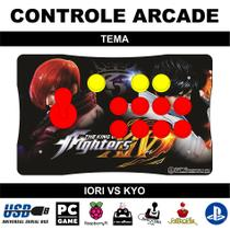 Controle Arcade / Fliperama para PC, PS3, PS4 e Raspberry - Tema The King of Fighters - Clube do fliperama