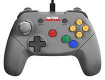 Controle Brawler64 Nintendo 64 N64 Cinza Retro Fighters -
