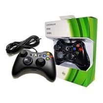 Controle Com Fio Compatível com Xbox 360 E Pc Slim Joystick - Gamer Pro -