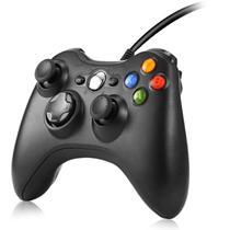 Controle Com Fio compatível pra Xbox 360 Joystick PC Computador cabo USB - Atomex Feir