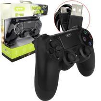 Controle com Fio para Video Game PS4 Preto KP-4028 KP-4028 KNUP -