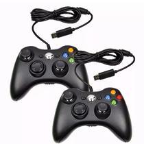 Controle Com Fio USB Para Xbox 360 e Computadores - PRETO - Rpc