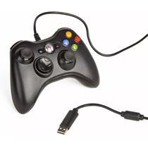 Controle Com Fio Xbox 360 E Pc Slim Joystick Notebook Usb - Rpc