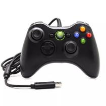 Controle Com Fio Xbox 360 E Pc Slim Joystick Plug And Play - Gamer pro