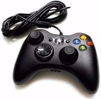 Controle Com Fio Xbox 360 Pc Computador 2 metros Cabo USB X-box Notebook - Bt