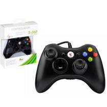 Controle Com Fio Xbox 360 Pc Computador 2 Metros Cabo Usb X-box Notebook - Knup