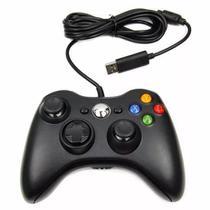 Controle Com Fio Xbox 360 Pc Computador 2 metros Cabo USB X-box Notebook - M.A