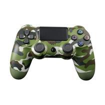 Controle Compatível com Ps4 DoubleShock Play 4 Wireless Sem Fio Camuflado Verde Militar - Newbrand