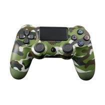 Controle Compatível com Ps4 Dualshock Play 4 Wireless Sem Fio Camuflado Verde Militar - Newbrand
