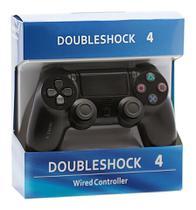 Controle DoubleShock para Play4 Preto Sem Fio - Vision