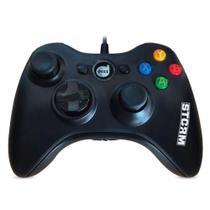 Controle Dualshock Storm Xbox 360/PC Preto 624518 - Dazz -
