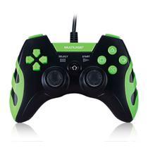 Controle Game Multilaser Com Fio, PS3 / PC, Preto / Verde -