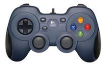 Controle Gamer Pc Logitech - F310 azul e preto -