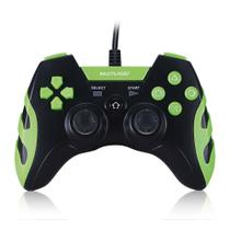 Controle Gamer PS3/PC Preto/Verde Multilaser - JS091 -