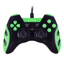 Controle Gamer Warrior Para PS3 PS2 PC Preto E Verde JS081 Multilaser