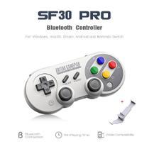 Controle Joystick 8bitdo Sf30 Pro Bluetooth com Holder -
