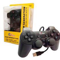 Controle Joystick Analógico Dual Shock Com Fio Usb para Pc Notebook FEIR FR-202 -